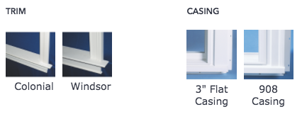 Trim and Casing options for Picture Windows